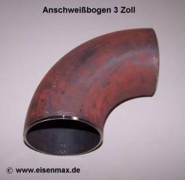032 Anschweißbogen Stahl nahtlos 3 Zoll  - Bild vergrößern