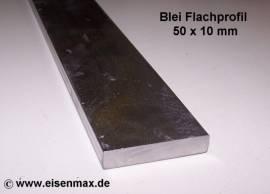 050 Bleiprofil Vierkant 50 x 10 - 100 mm - Bild vergrößern