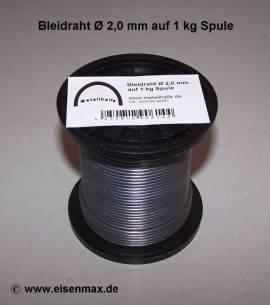 102 Bleidraht ø 2,0 mm auf 1 kg Spule - Bild vergrößern