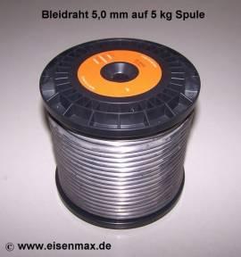505 Bleidraht ø 5,0 mm auf 5 kg Spule - Bild vergrößern