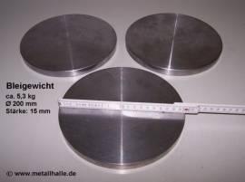023 Bleischeibe Ø 200 - 15 mm - Bild vergrößern