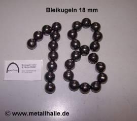 180 Bleikugeln ø 18 mm - Bild vergrößern
