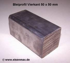 051 Bleiprofil Vierkant 50 x 50 - 100 mm - Bild vergrößern