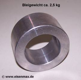 100 Blei Ringgewicht Ø 100/65 - 50 mm - Bild vergrößern