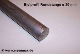 020 Bleiprofil Vollstange rund ø 20 - 100 mm - Bild vergrößern