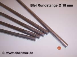018 Bleiprofil Vollstange rund ø 18 - 500 mm - Bild vergrößern