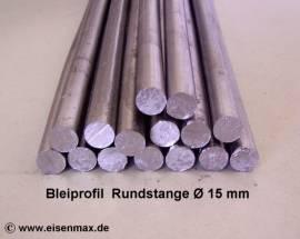 015 Bleiprofil Vollstange rund ø 15 - 500 mm - Bild vergrößern