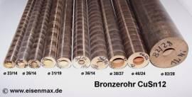 230 Bronze CuSn12 Rohr für Bronzelager ø 23/14-100 mm - Bild vergrößern