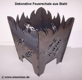 001 Feuerkorb Stahl eckig für Garten - Bild vergrößern