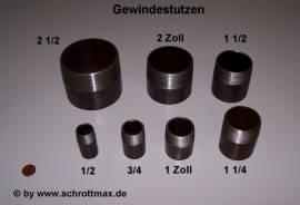 019 Gewindestutzen 1/2 Zoll schwarz St37 - Bild vergrößern