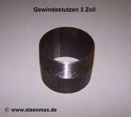 032 Gewindestutzen 3 Zoll schwarz St37 - Bild vergrößern