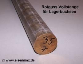 035 Rotguss Rg7 Vollstange Rund ø 35-100 mm - Bild vergrößern