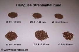 010 Hartguss Gh Ø 2,0 - 2,8 mm Strahlmittel - Bild vergrößern