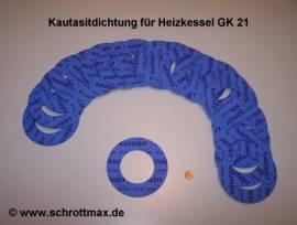 044 Kautasitdichtung Ø 116/64-3 mm für GK21 - Bild vergrößern
