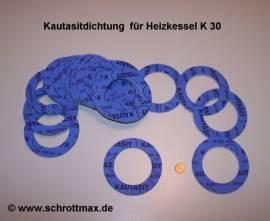 044 Kautasitdichtung Ø 88/55-3 mm für Heizkessel K30 - Bild vergrößern