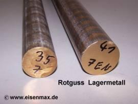 041 Rotguss Rg7 Vollstange Rund ø 41-100 mm  - Bild vergrößern