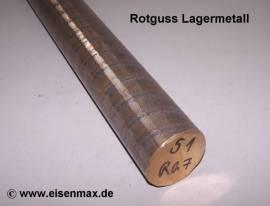 051 Rotguss Rg7 Vollstange Rund ø 51-100 mm - Bild vergrößern