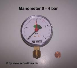 004 Manometer 4 bar - Bild vergrößern