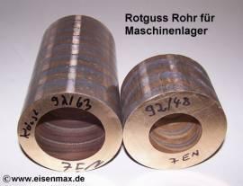 925 Rotguss Rg7 Rohr für Gleitbuchsen ø 92/63-100 mm - Bild vergrößern