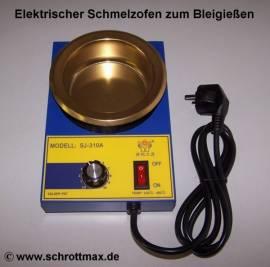 202 elektrischer Schmelzofen Schmelztiegel Ø 10 cm - Bild vergrößern