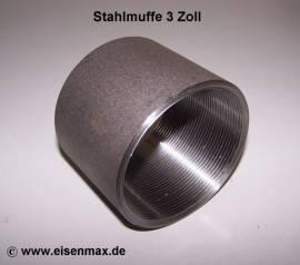 032 Stahlmuffe 3 Zoll schwarz - Bild vergrößern