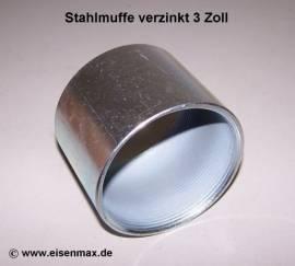 032 Stahlmuffe 3 Zoll verzinkt - Bild vergrößern