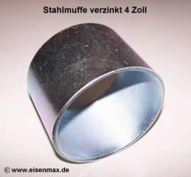 034 Stahlmuffe 4 Zoll verzinkt - Bild vergrößern