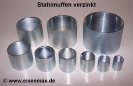 019 Stahlmuffe 1/2 Zoll verzinkt - Bild vergrößern