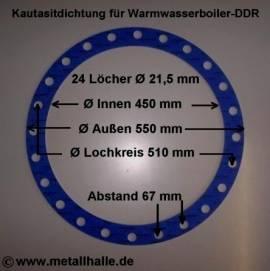 157 Flachdichtung Warmwasserboiler DDR 200 l - Bild vergrößern