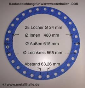 161 Flachdichtung Warmwasserboiler DDR 1000 l - Bild vergrößern