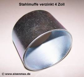 034 Stahlmuffe 4 Zoll verzinkt
