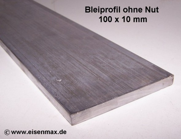 neu bleiprofil vierkant ohne nut 100 x 10 100 mm g nstig. Black Bedroom Furniture Sets. Home Design Ideas